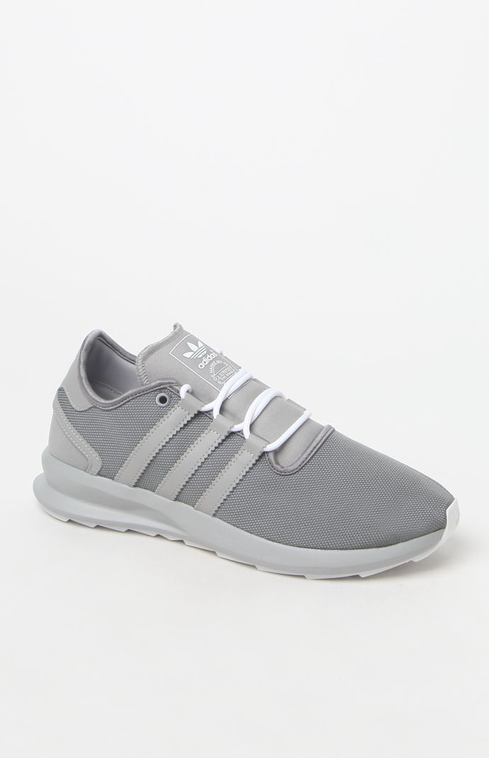 White Shoes, Adidas, Grey, Mindful Gray, Gray