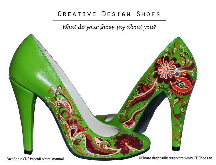 Spring Infusion - pantofi pictati manual