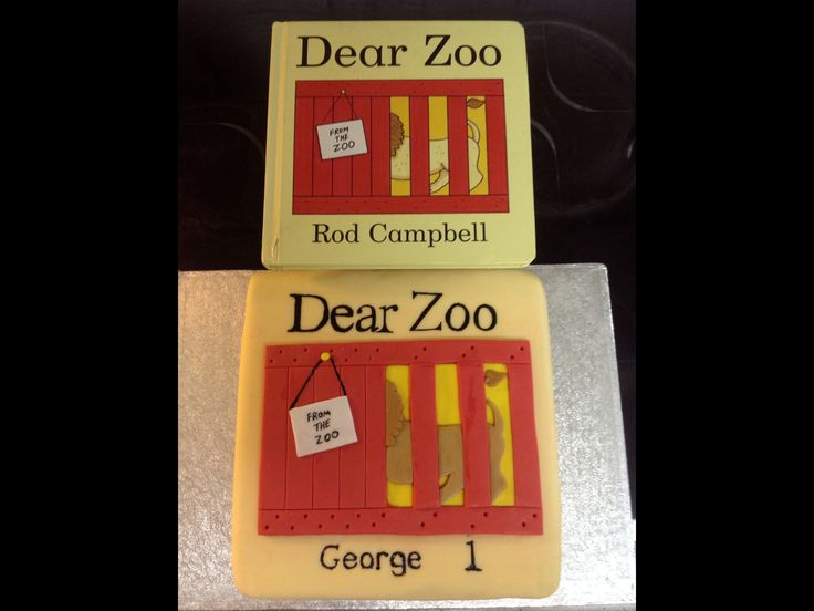 Dear Zoo Cake Toppers