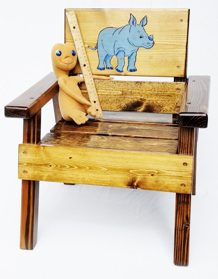 Wonderful Kids Outdoor Chair, Boy/Girl, Toddler+ Gift, Jungle Animal, Carved U0026