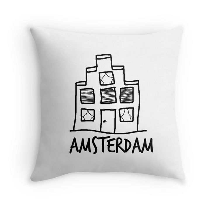 Amsterdam pillow. To order: http://www.redbubble.com/people/bbrigitte/works/23534851-a-mansion-in-amsterdam?c=595386-hand-drawn&p=throw-pillow&rel=carousel