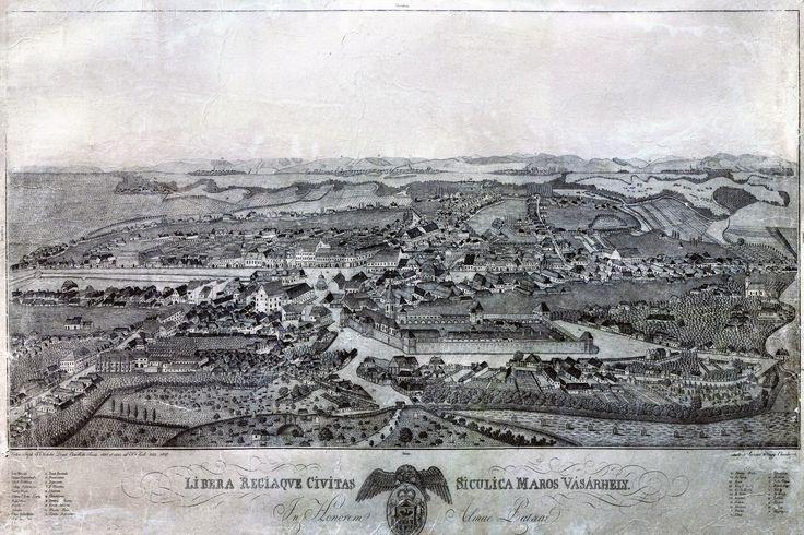 Târgu Mureș (aka Marosvásárhely) in the 1820s, Romania