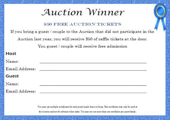 Image result for free printable silent auction templates