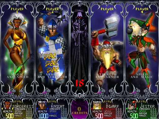 Gauntlet | 12 Classic Character Select Screens To Make You Long For The Arcade