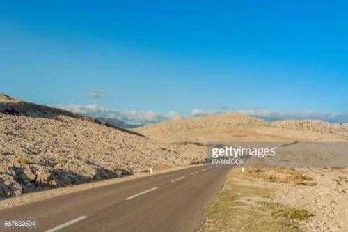 06-29 Empty asphalt road near Zubovici, Pag island, Croatia... #zubovici: 06-29 Empty asphalt road near Zubovici, Pag island,… #zubovici