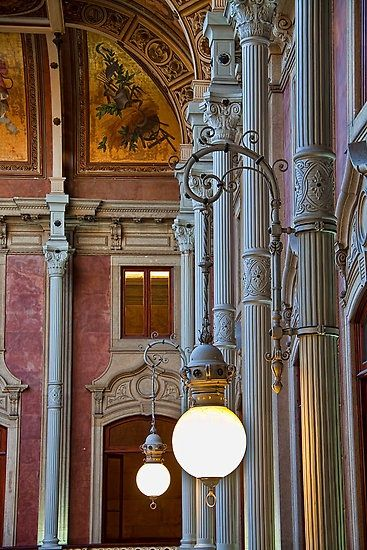 Incredible Pictures: Palácio da Bolsa - Porto, Portugal Isn't the architecture and mix of textures and colors just beautiful...