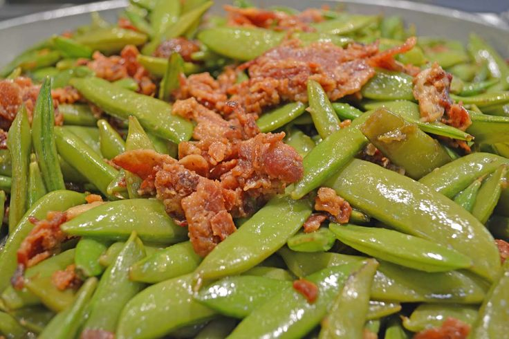 Snow Peas with Balsamic, Bacon & Sautéed Garlic — at Joe Leone's ...