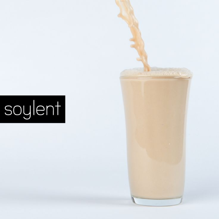Soylent - all the body's caloric and nutritional requirements in liquid form