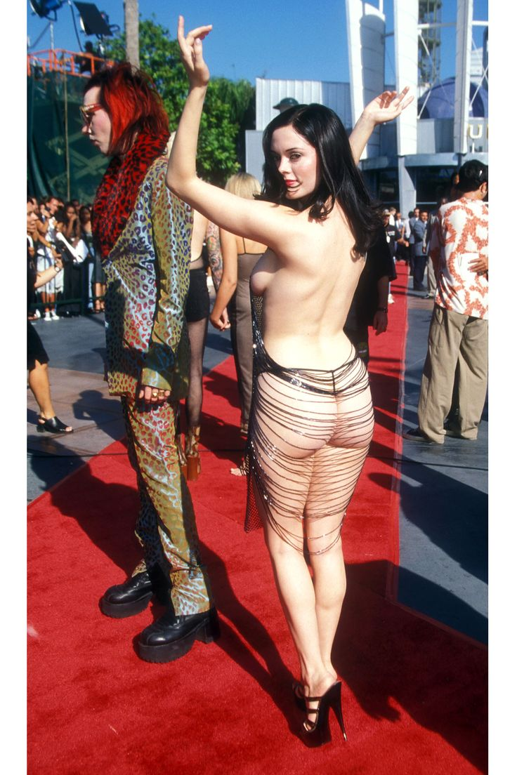 "The Most Memorable Fashion Moments at the VMA's | ""Rose McGowan, 1998"""