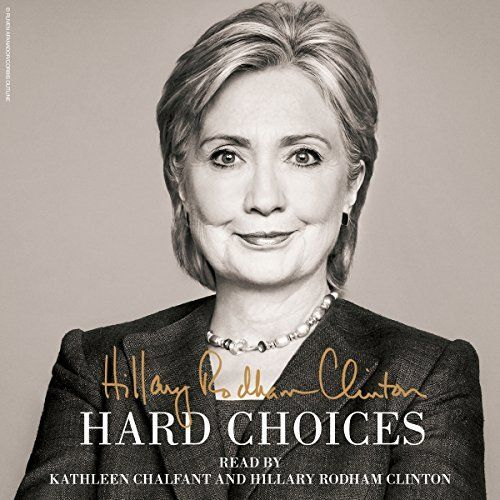 "Another must-listen from my #AudibleApp: ""Hard Choices"" by Hillary Rodham Clinton, narrated by Kathleen Chalfant."