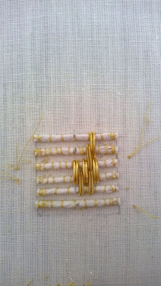 Goldwork embroidery | technique: