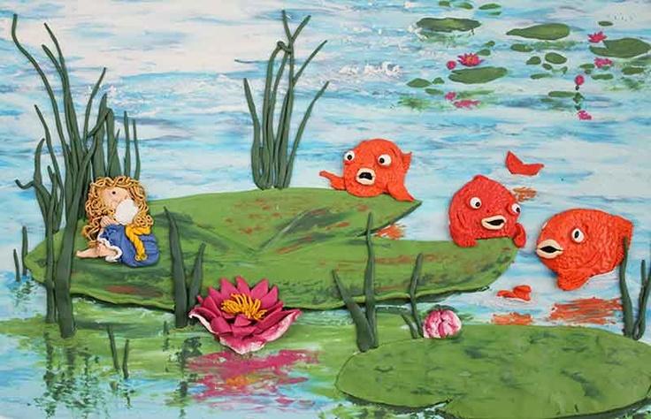 Thumbelina illustration #1. Plasticine illustration