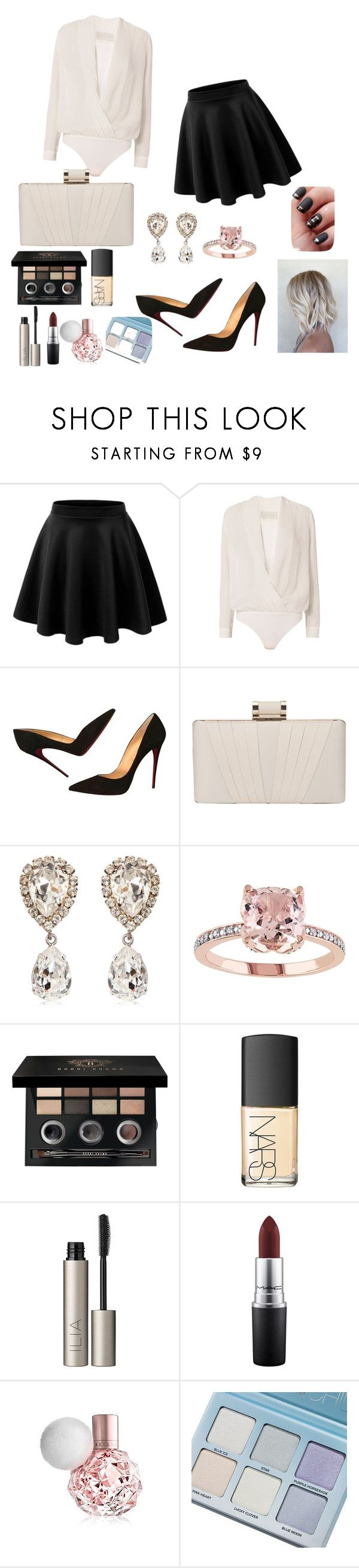 """Untitled #597"" by elma-alibasic on Polyvore featuring Michelle Mason, Christian Louboutin, Phase Eight, Dolce&Gabbana, Bobbi Brown Cosmetics, NARS Cosmetics, Ilia, MAC Cosmetics and ARI"