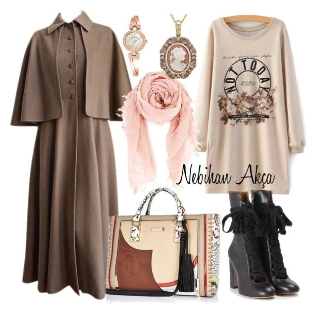 hojab fashion outfit #32 by nebihan-akca on Polyvore featuring polyvore fashion style Yves Saint Laurent Chloé River Island Anne Klein Chan Luu women's clothing women's fashion women female woman misses juniors