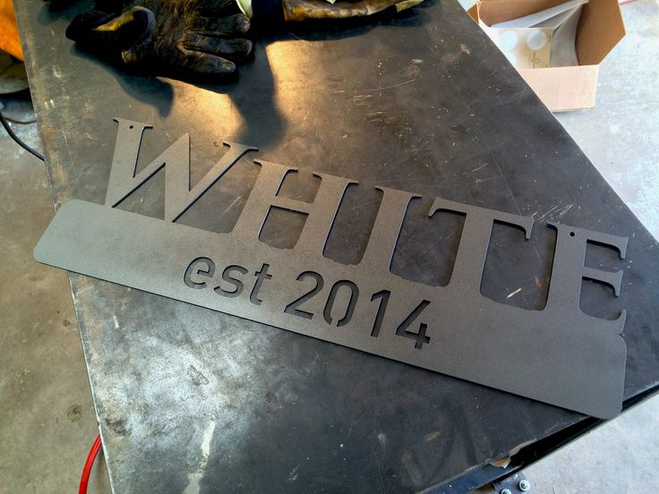 Custom Last Name Established Sign, Metal