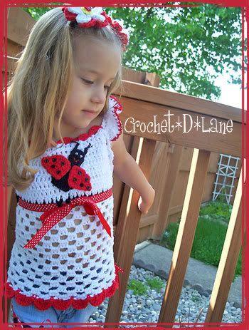 Lucky Ladybug Crochet Top