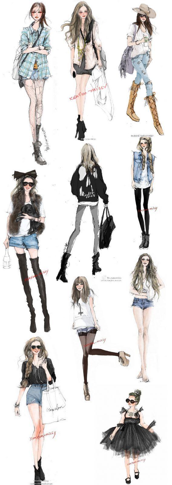 Xunxun Missy - fashion #illustrations