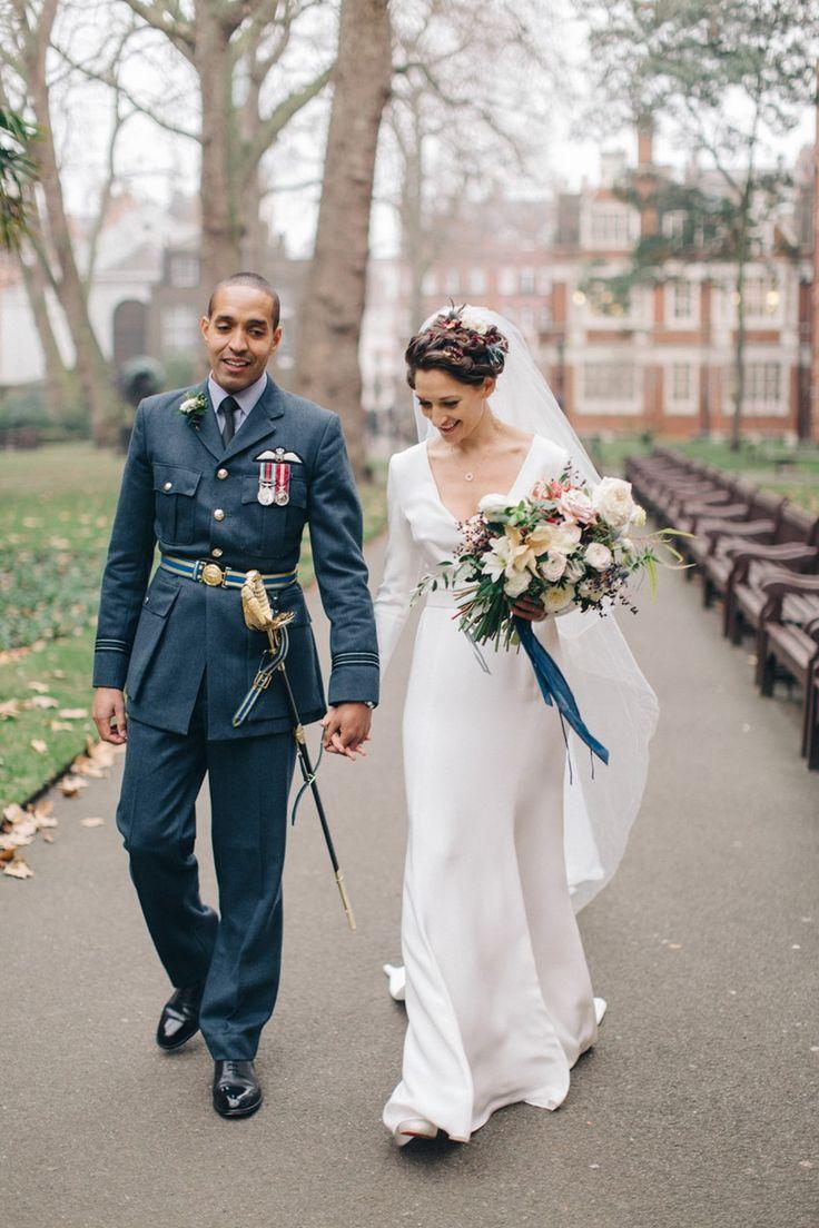 London Winter Wedding Bride & Groom