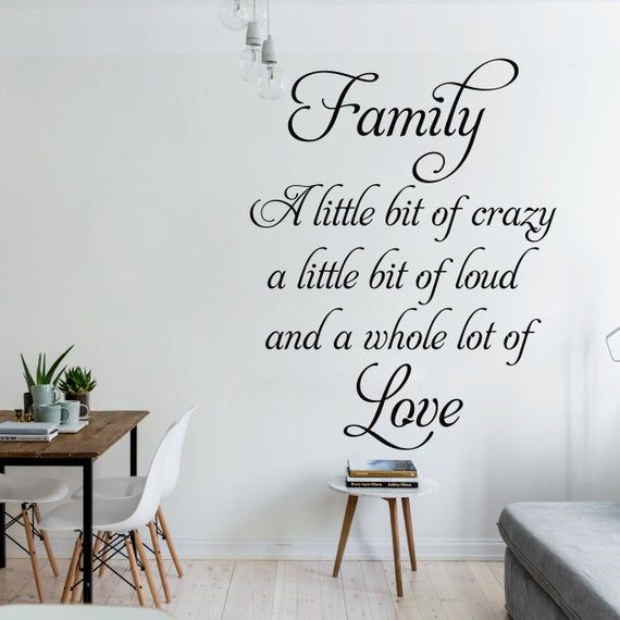 Family Love Wall Decals Home Quotes Wall Sticker Decal Etsy Wall Decals Wall Decor Decals Wall Decor Quotes