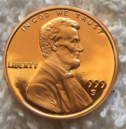 coins 1999-S Proof LINCOLN CENT PULLED U s  Mint Set Wow