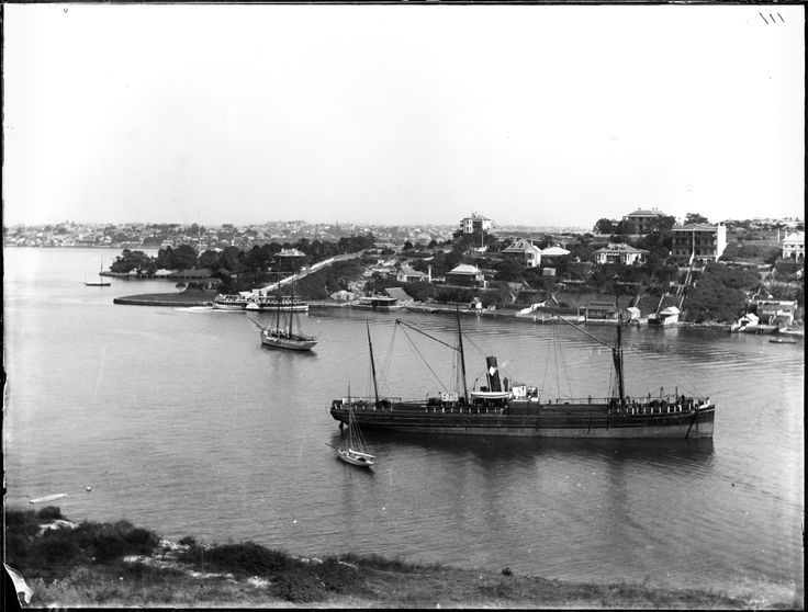 Looking west across Lavender Bay towards McMahon's Point from Milson's Point, 1897
