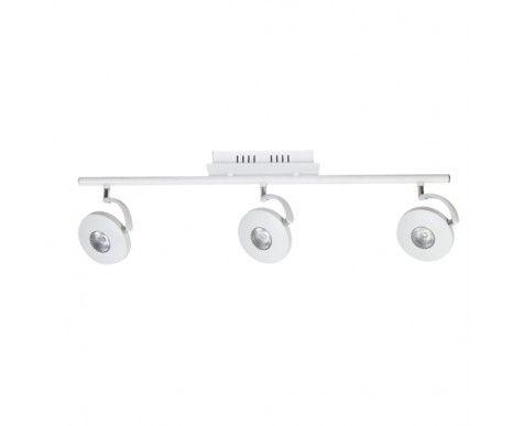 LEDlux Sirius 3 Light Round Bar Spotlight in White