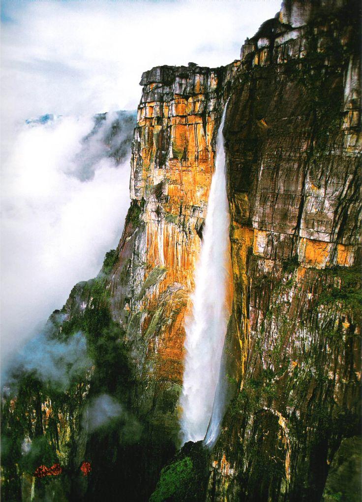 El Salto del Ángel, el Parque Nacional Canaima en el estado Bolívar, en la frontera de Venezuela con Brasil