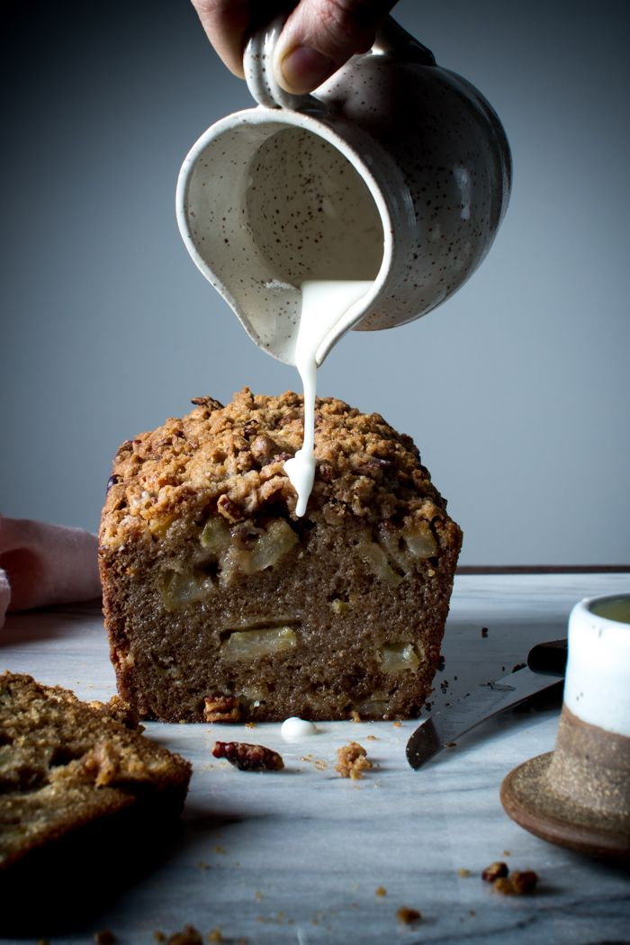 Apple Cinnamon Loaf with a Pecan Crumble Topping