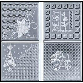 PATTERN PACK 24 FILIGREE CHRISTMAS  Filigree Christmas contains four beautiful, delicate pattern cards for Christmas