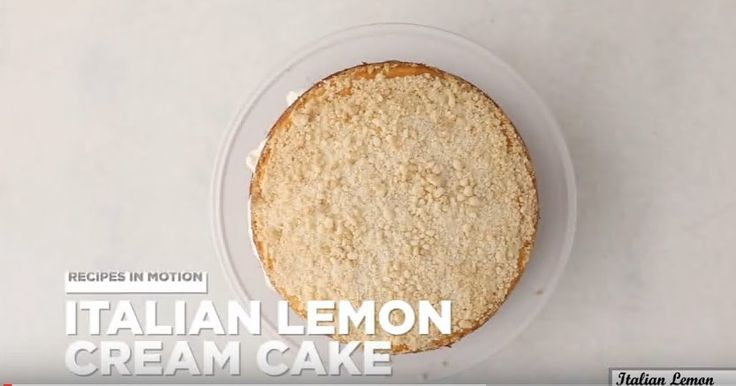 Italian Lemon Cream Cake Recipe https://www.youtube.com/watch?v=4TtWxLJxNP8 #recipe #italian #dinner #snack #lemon