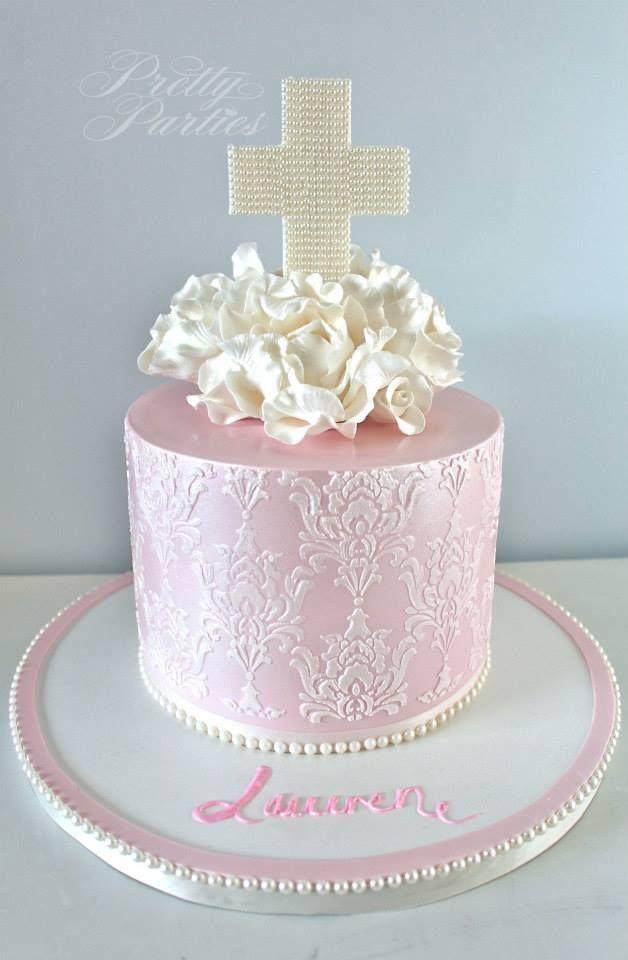 Pretty Parties - Custom Cakes C-22 Communion / Confirmation Cake www.prettyparties.net.au