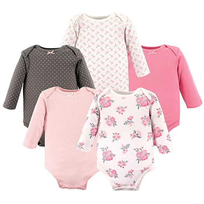 298a154e02b83 Amazon.com: Hudson Baby Baby Infant Long Sleeve Bodysuit 5 Pack ...