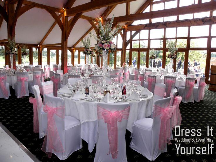 Brocket Golf Club - Oak Room - Wedding (214) Ideas for decorating your wedding breakfast in the Oak Room at Brocket Hall