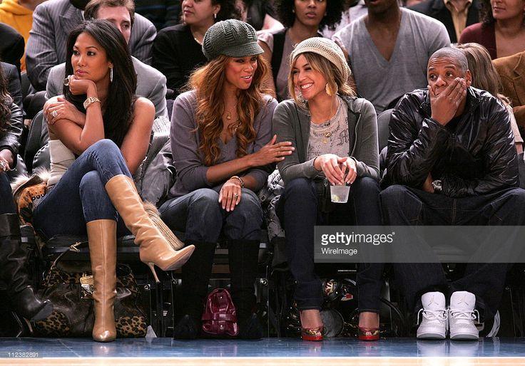 Kimora Lee Simmons, Tyra Banks, Beyonce Knowles and Jay-Z