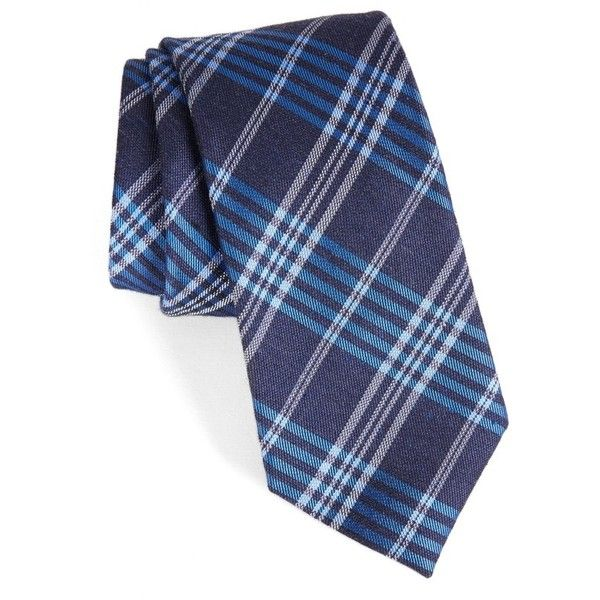Men's Calibrate School Plaid Silk & Cotton Tie (155 BRL) ❤ liked on Polyvore featuring men's fashion, men's accessories, men's neckwear, ties, royal blue, mens royal blue tie, mens cotton ties, mens plaid ties, preppy mens ties and mens ties