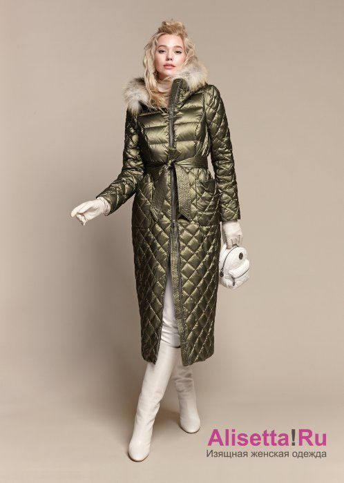 117d853ca98 Купите модное женское пальто-пуховик Naumi 18 W 773 02 33 Olive – Зеленый