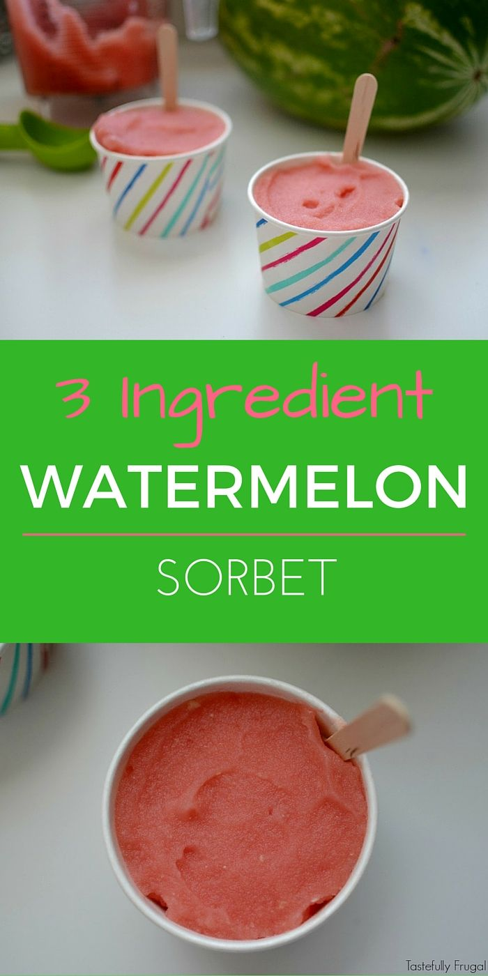 3 Ingredient Watermelon Sorbet: A Healthy, All Natural, Alternative To Ice Cream | Tastefully Frugal