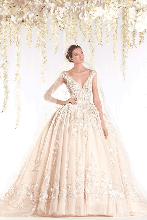 gorgeous wedding gown by the talented Ziad Nakad