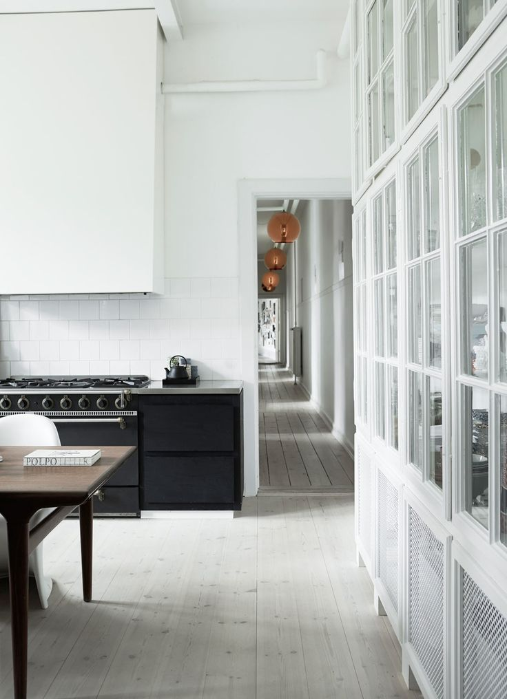 kitchen in a spacious Copenhagen apartment