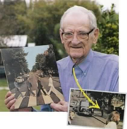The man who photo bombed the iconic Beatles photo.