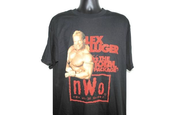 1998 Lex Luger The Total Package Vintage NWO Wolfpac 90's Wrestling T-Shirt