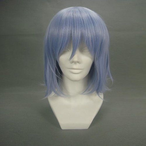 """16"""" Straight Light Blue Cosplay Wig -- Touhou Project Remilia Scarlet by Allnicecos. $25.99. Use it year round, whether for costume, fashion, or just for fun. Material:100% High-quality Synthetic fiber anti High-temperature. Adjustable net-cap fits most head size. Please note: This item's color may vary due to inherent manufacturing variations or your computer monitor's color settings. The item you receive will be identical or substantially similar to the item pictured in this li..."""