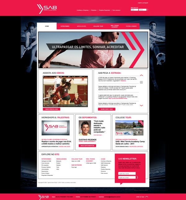 Sports Action Brazil – new website + twitter design by Bizpo, via Behance