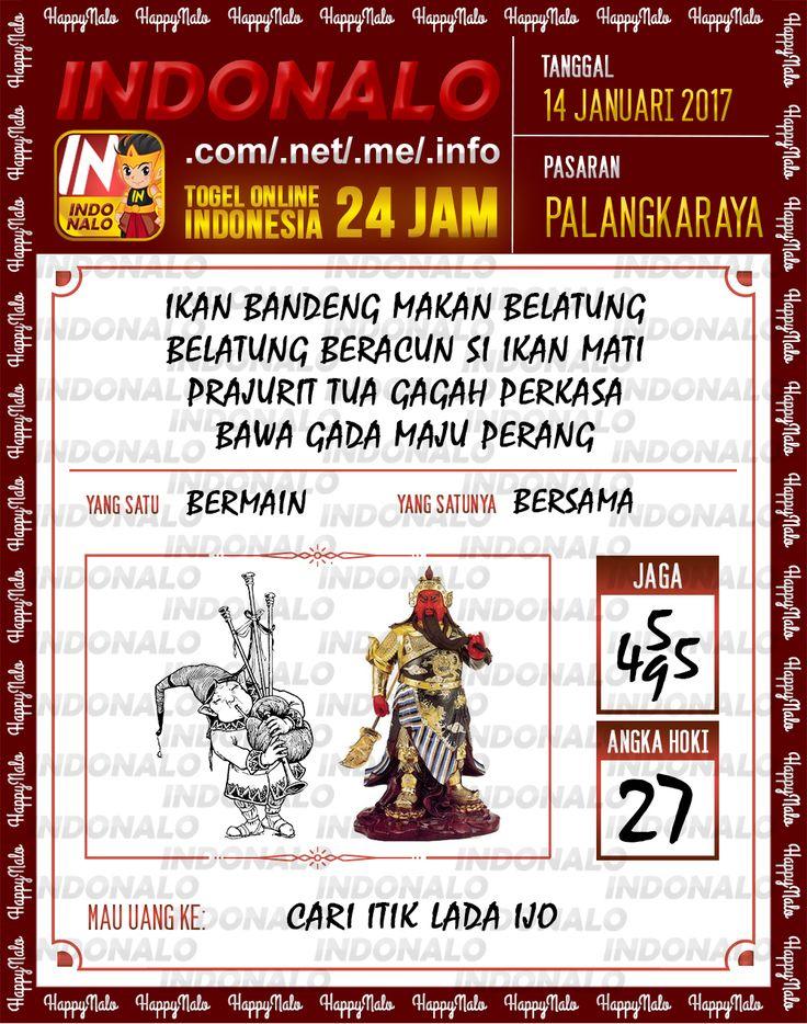 Kode Hoki 2D Togel Wap Online Live Draw 4D Indonalo Palangkaraya 14 Januari 2017