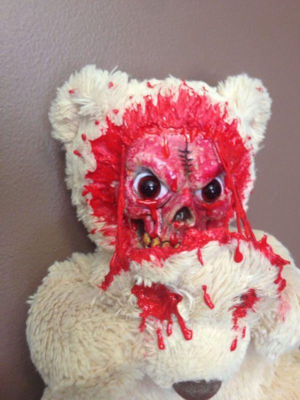 Creepy OOAK gothic horror Zombie Teddy Bear plush (scare bear)