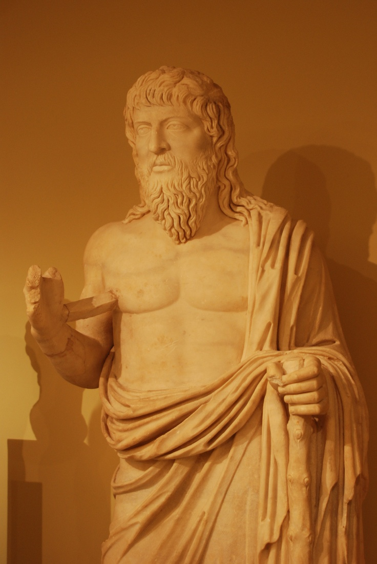 The Wondering Philosopher, probably the Philosopher Apollonius of Tyana. Courtesy & currently located at the Heraklion Archaeological Museum, Crete. Photo taken by George M. Groutas.