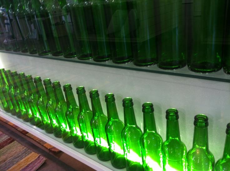 Green Hartwall bottles.