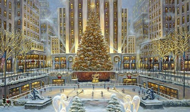 christmas in nyc | Enjoy the Christmas evening in New York USA