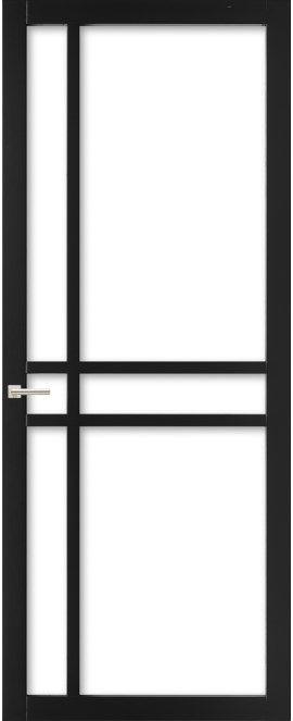 WK6314 C - Industriële binnendeur met een strak, modern, stoer en tijdloos design. Kenmerkend voor deze deur is de verfijnde uitstraling en de slanke profilering. Passend in een modern en strak interieur. De deur zorgt voor veel lichtinval en een ruimtelijk karakter. Ook toepasbaar als dubbele deuren of schuifdeur(en).