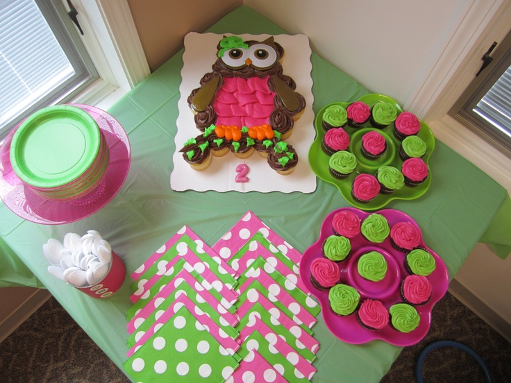 Owl Cupcake Cake 24 Cupcakes From Wal Mart Under 20